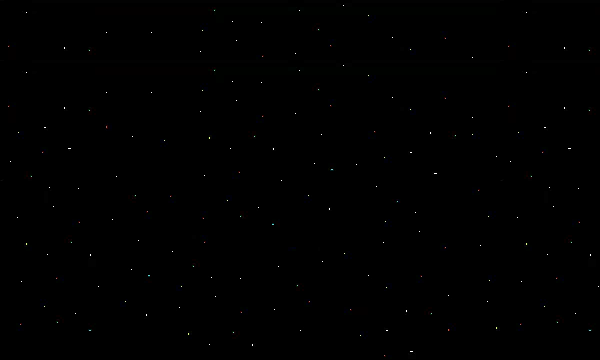 A starry background in space used for scrolling