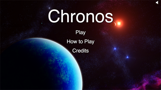 Chronos main title screen